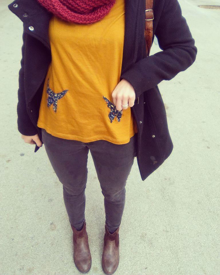 Camiseta manga larga con pimpibolsillos
