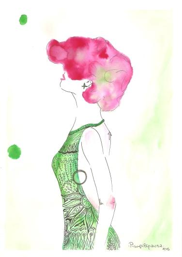 """Verde selva"". Print Din A5, 5€. Din A4, 10€, Din A3, 15€."