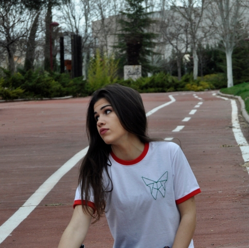Camiseta algodón manga corta con Pimpi bordada a mano. 20€